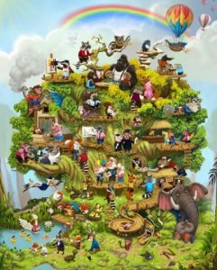 The journey of life depicted as a personalised Life Tree