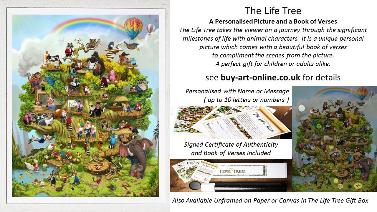The Life Tree is a personalised picture fom artist Lisa Beta