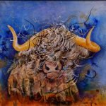 Highland Cow Original Painting
