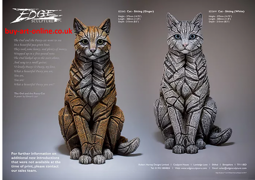 Sitting Cat from Edge Sculptures