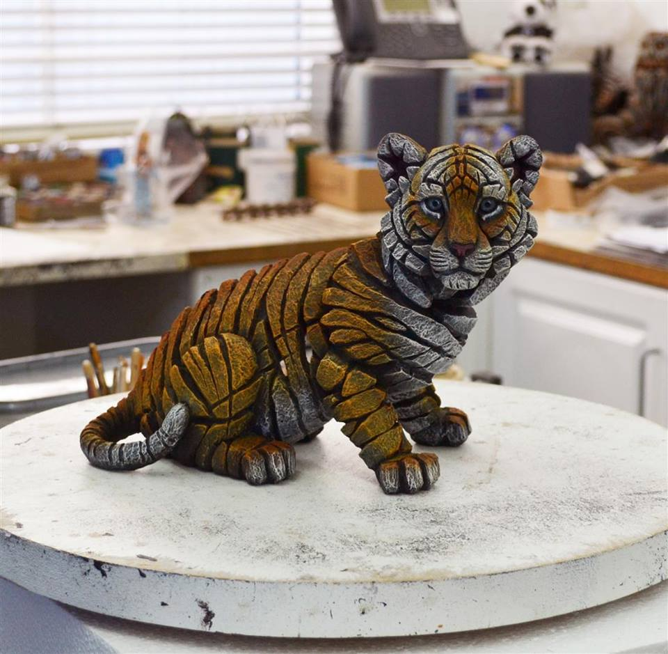 Sculpture of baby tiger