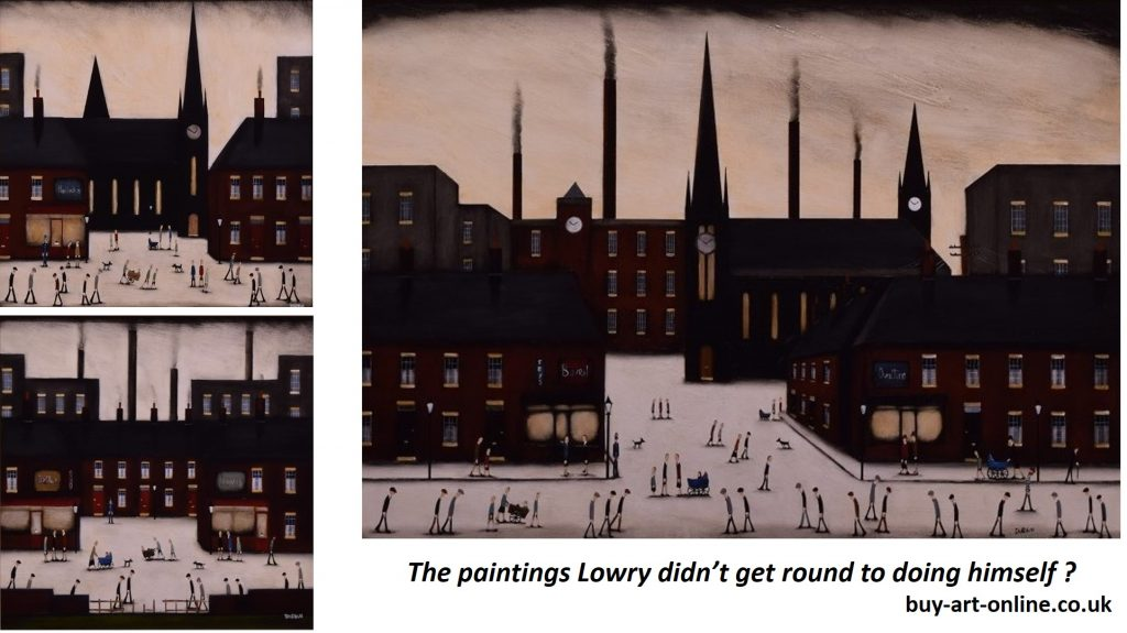 Lowry style oil paintings from artist Sean Durkin